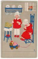CHILDREN PLAYING MEISSNER&BUCH LEIPZIG SERIE Nr. 2300 OLD POSTCARD - Children