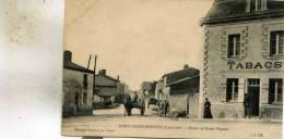 Pont-Saint-Martin 44   La  Route De Saint-Aignan -Animée -Tabacs Et Attelage Cheval - France