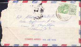 R)1950 ARQUELOGY CHIAPAS 50CTS. STAMP. CORREO AIR MAIL, COZUMEL, Q. ROO MEXICO. SEAL ON COVER - Mexico