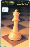 ECHECS * CHESS * Jeu SCHAKEN * TELECARTE JAPON * Sport Chess Scacchi Schach Ajedrez (76) PHONECARD JAPAN - Sport
