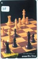 ECHECS * CHESS * Jeu SCHAKEN * TELECARTE JAPON * PHONECARD JAPAN * Sport Chess Scacchi Schach Ajedrez (78) - Sport