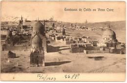 CAIRO - Tombeaux De Califs Au Vieux Caire ++++++++ Port Said To Vienna, Austria 1903 +++++++ - Unclassified