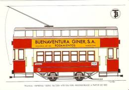 POSTAL DE ESPAÑA DEL TRANVIA IMPERIAL EN BARCELONA (TREN-TRAIN-ZUG) - Tranvía