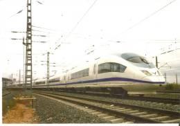 Nº 995 POSTAL DE ESPAÑA DE UN TREN AVE EN LA SAGRA (TOLEDO) (TREN-TRAIN-ZUG) - Trenes