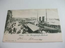 Stettin Am Dampfsohiffs Bollnverk Nave Ship - Pommern