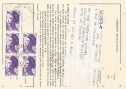 10 F. X5 Liberté Sur Carte De Réexpédition - 1961-....