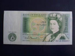 GREAT BRITAIN ENGLAND 1 POUND  NOTE Sign: Somerset - 1952-… : Elizabeth II