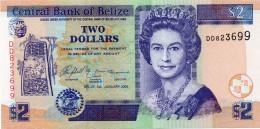 BELIZE 2 DOLLARS 2005 PICK # 66F UNC. - Belize