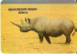 CALENDARIO DEL AÑO 1992 DE UN RINOCERONTE NEGRO (RHINO) (CALENDRIER-CALENDAR) - Tamaño Pequeño : 1991-00