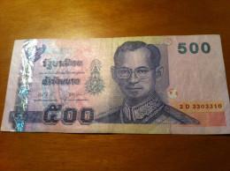 THAILAND 500 BAHT See Scan - Tailandia