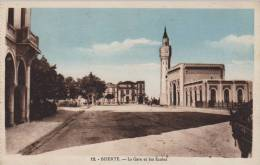 Tunisie. BIZERTE. - La Gare Et Les Ecoles. E.P.A.  Ed. Phototypie Photo Albert, Alger N°12 - Tunisia