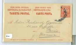 PARAGUAY * ASCENSION * Uit 1905 * 2 X CARTE POSTALE * TARJETA POSTAL + ANTWORT  * Naar PARIS FRANCE * 4 CENTAVOS (6101) - Paraguay