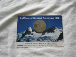 Médaille Alberville 1992 Souvenir Numismatique N°9457 Monnaie De Paris - Monnaie De Paris