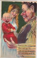 Father Holding Son, Mother Smiles, Invitation To Come Meet The Baby, 10-20s - Birth