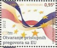 CG 2012-305 OPENING OF EU ACCESSION NEGOTIETIONS OF MONTENEGRO, MONTENEGRO CRNA GORA, 1 X 1V, MNH - Montenegro