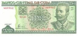 Cuba P.116   5 Pesos 2007 Unc - Cuba