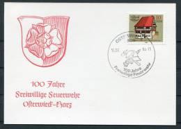 1984 East Germany DDR Osterwieck Feuerwehr Fire Brigade Card - Firemen
