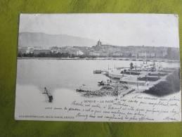 Cpa 1901 - Genève - La Rade - A La Degringolade , Grand Bazar  Cachet Rural Rehon /timbre Paix Et Commerce  10 - GE Geneva
