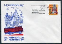 1976 East Germany DDR Quedlinburg Feuerwehr Fire Brigade Cover - Firemen