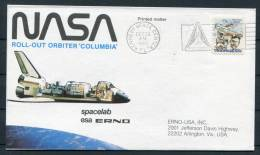 1980 USA NASA ESA Spacelab Columbia Kennedy Space Center Cover - Covers & Documents