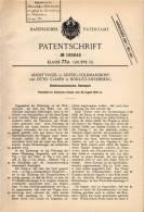 Original Patentschrift - O. Glaser In Böhlitz - Ehrenberg , 1906 , Elektromechanisches Rennspiel , Rennbahn , Autorennen - Toy Memorabilia
