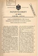 Original Patentschrift - Franz Van Scharrenburg In Tiel , 1906 , Nähmaschine Zum Aufsticken Von Zeichen !!! - Machines