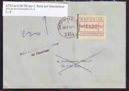 767z2: Österreich 2. ATM- Ausgabe Guter Bedarfsbrief Gest. 2304 Orth An Der Donau - ATM - Frama (vignette)