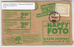 767z1: Österreich 3. ATM- Ausgabe Guter Bedarfsbrief Gest. 4.12.98 - ATM - Frama (vignette)