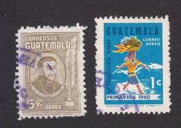 Guatemala, Scott #C269-C270, Used, Rivera, Woman Carrying Fruit Basket, Issued 1963 - Guatemala