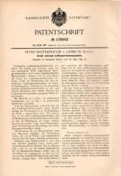 Original Patentschrift - P. Brotherhood In Lamberth , London , 1899 , Kompressor , Luftkompressionsmaschine !!! - Tools