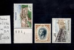 Lot_Yvert N° 546+548+549 (**) - Monaco