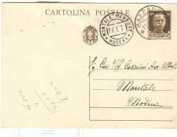 STORIA POSTALE, BAZZANO, BOLOGNA ,TIMBRO POSTE BAZZANO, SU CARTOLINA VIAGGIATA 1934 PER  MONTALE,  MODENA - 1900-44 Victor Emmanuel III