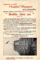 Ced , Publicité , Berlitz , Paris , Carte Postale Vierge , 2 Scans , Frais Fr : 1.55€ , Cee : 1.80€ , Monde : 2.80€ - Advertising