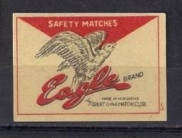 Matchbox Label Etiquette Allumette  EAGLE - Matchbox Labels