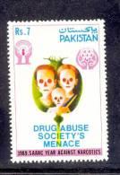 1989 PAKISTAN SAARC YEAR AGAINST NARCOTICS DRUG ABUSE ADDICTION UMM. - Pakistan