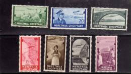 ALBANIA - SHQIPTARE 1940 AIR MAIL - POSTA AEREA SERIE COMPLETA MNH - 9. WW II Occupation (Italian)