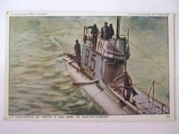 - LETH - L´ANGLETERRE PRETE  A FRAPPER -LE SOUS MARIN B5 ARRIVE A UNE BASE DE RAVITAILLEMENT - Unterseeboote
