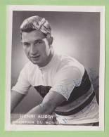 Henri AUBRY, Champion Du Monde, Autographe Manuscrit, Dédicace. 2 Scans. Format 8.5 X 10.5 - Cycling