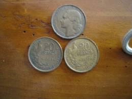 Lot De 2 Pieces De 20 Francs Type G  Guiraud - Frankrijk