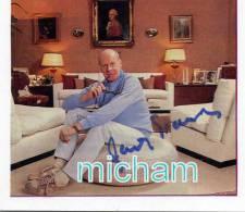 HM N°1087 PHOTO PAPIER SUR SUPPORT CARTON  BONNE SIGNATURE   DE JACQUES FRANCOIS  15X14 Cm - Autographes