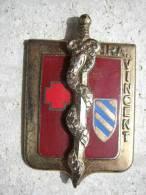 INSIGNE DU SERVICE DE SANTEE DES ARMEE HRA VINCENT (Sans attache) BON ETAT GENERAL DRAGO PARIS