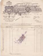 DROME, Valence, René MONIER, Usine à Vapeur Fabrique De Liqueurs, 1920/1403. - Invoices & Commercial Documents
