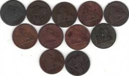 BELGIQUE LOT DE 11 PIECE DE LA SERIE 87/113, 2 Cts, LEOPOLD I. (SPD06) - 1831-1865: Leopold I