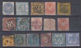 Germany States Prussia,Baden,Bayern,Sachsen Damaged Stamps USED. - Allemagne