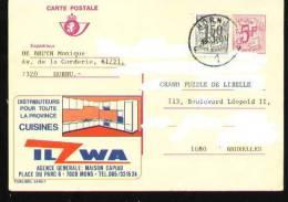Publibel - 2689F - Hornu - Stamped Stationery