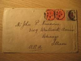 NATAL Queenstown 1911 To Chicago USA South Africa Afrique Du Sud - South Africa (...-1961)
