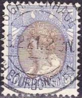 's-GRAVENHAGE C.H. BOURBONSTR. 4 ? Op 1899 Koningin Wilhelmina 17½ Cent Bruin / Ultramarijn  NVPH 67 - Poststempels/ Marcofilie