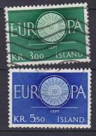 Iceland 1960 Mi. 343-44 Europa CEPT Complete Set !! - Oblitérés