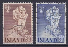 Iceland 1960 Mi. 340-41 Weltflüchtlingsjahre World Refugee Year Complete Set !! - Oblitérés