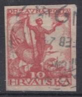 Yugoslavia, Kingdom SHS, Issues For Croatia 1919 Mi#91U, Imperforated, Used - Usati